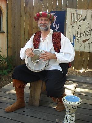 Bruce Schneier playing doumbek