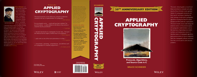 Applied Cryptography book jacket