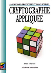 Cover of the French First Edition of Applied Cryptography