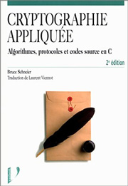 Cover of the French Second Edition of Applied Cryptography