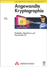 Cover of the German edition of Applied Cryptography