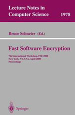 Cover of Fast Software Encryption